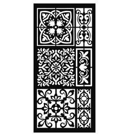 Stamperia Thick stencil 12x25 cm – Tiles