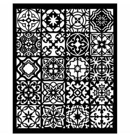 Stamperia Thick stencil 20x25 cm Azulejos