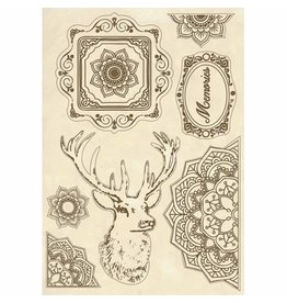 Stamperia Wooden shape A5 size Cosmos deer