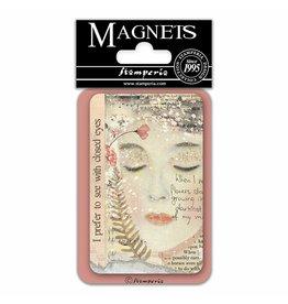 Stamperia Magnet cm. 8x5,5 - Closed eyes