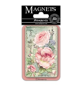 Stamperia Magnet cm. 8x5,5 - Butterflies and Roses