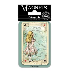 """Stamperia Magnet cm. 8x5,5 - Alice """"A long Tale"""""""