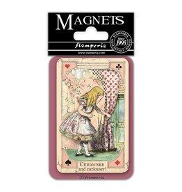 Stamperia Magnet cm. 8x5,5 - Alice curious