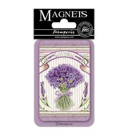 Stamperia Magnet cm. 8x5,5 - Lavender bouquet