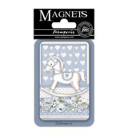 Stamperia Magnet cm. 8x5,5 - Baby Boy rocking horse
