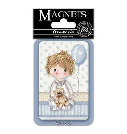 Stamperia Magnet cm. 8x5,5 - Baby Boy baloon