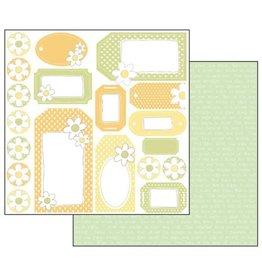 Stamperia Double Face Scrap Paper - multicolor fastener