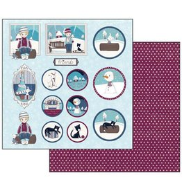 Stamperia Double Face Scrap Paper - Thomas frames