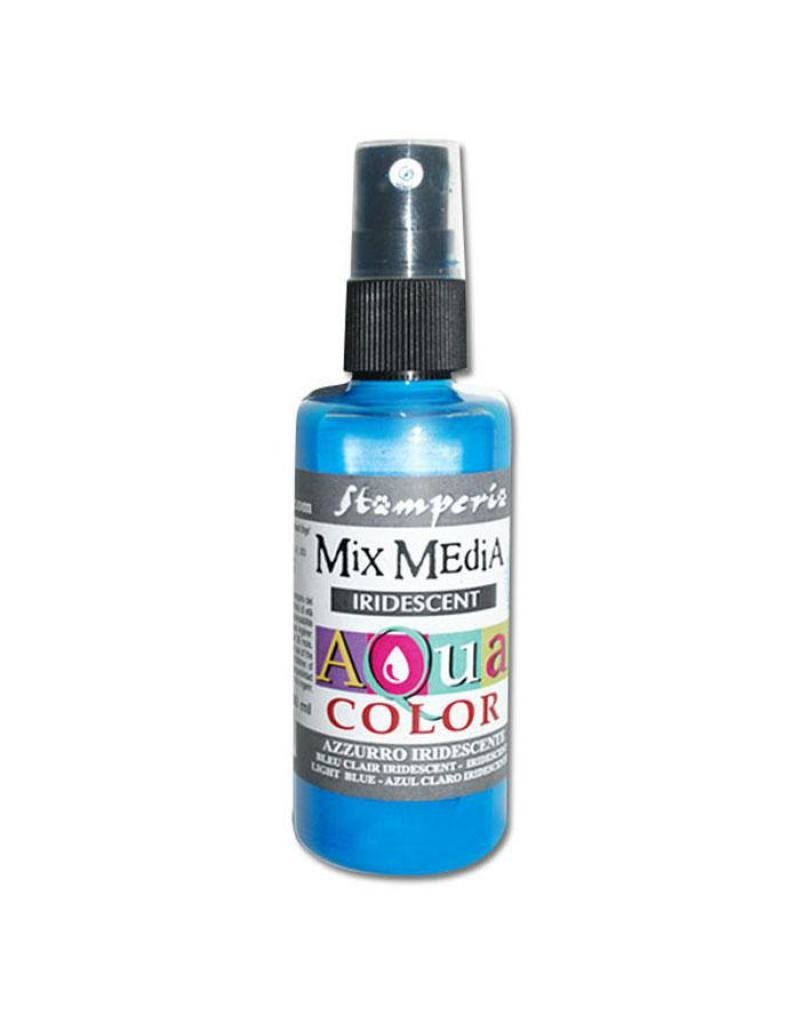 Stamperia 310 Aquacolor spray 60ml. - Iridescent Light Blue