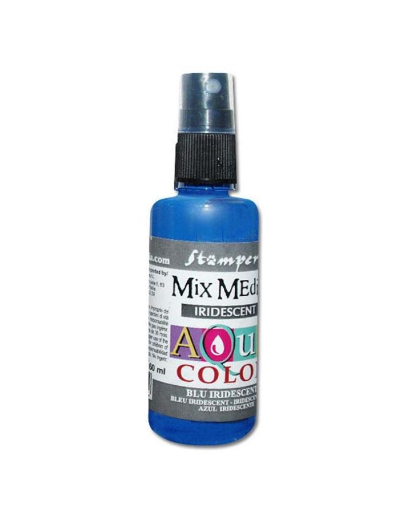 Stamperia 309 Aquacolor spray 60ml. - Iridescent blue