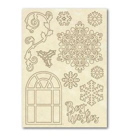 Stamperia Wooden frames A5 size - Best wishes