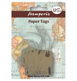 Stamperia Havana Tag with monument – 12pieces