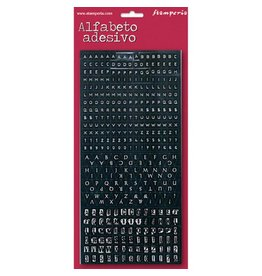 Stamperia Mini alphabet 375 pcs - black background