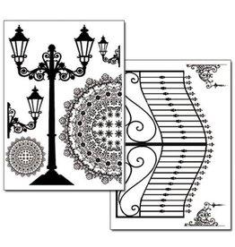 Stamperia Transfer Paper A4 size B/W - 2 sheets pack - Gate