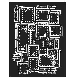 Stamperia Thick stencil cm. 15x20  - Steampunk