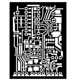 Stamperia Thick stencil cm. 15x20  - Circuit board