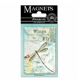 Stamperia Magnet cm. 8x5,5 - Wonderland Dragonfly