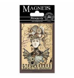 Stamperia Magnet cm. 8x5,5 - Voyages Fantastiques Woman
