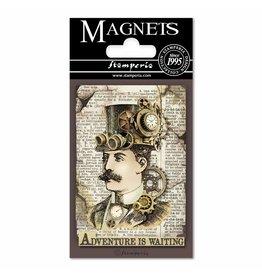 Stamperia Magnet cm. 8x5,5 - Voyages Fantastiques Man