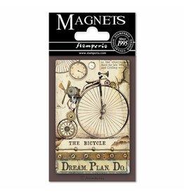 Stamperia Magnet cm. 8x5,5 - Voyages Fantastiques Bicycle