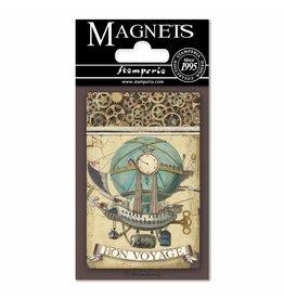 Stamperia Magnet cm. 8x5,5 - Voyages Fantastiques Balloon