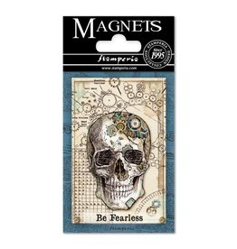 Stamperia Magnet cm. 8x5,5 - Mechanical Fantasy Skull