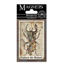 Stamperia Magnet cm. 8x5,5 - Mechanical Fantasy Scarabeo