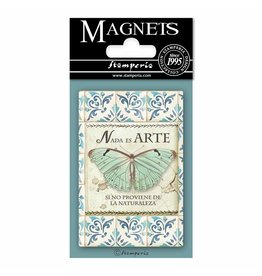 Stamperia Magnet cm. 8x5,5 - Azulejos butterfly
