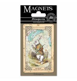Stamperia Magnet cm. 8x5,5 - Alice White Rabbit
