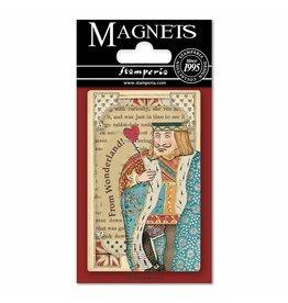 Stamperia Magnet cm. 8x5,5 - Alice Queen of Hearts