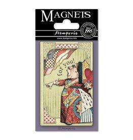 Stamperia Magnet cm. 8x5,5 - Alice Mad Hatter