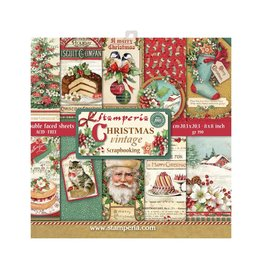 """Stamperia Block 10 sheets 20.3X20.3  (8""""X8"""") Double Face Christmas Vintage"""