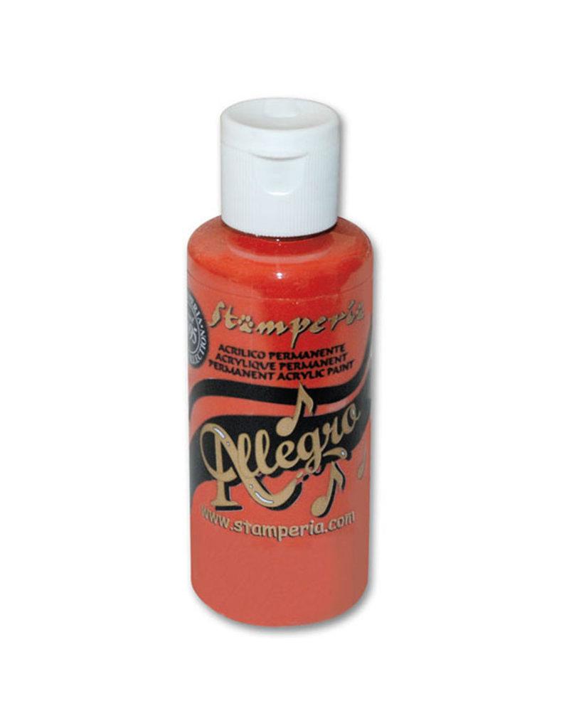 Stamperia Allegro paint 59 ml.warm red