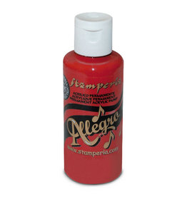 Stamperia Allegro paint 59 ml.cardinal red