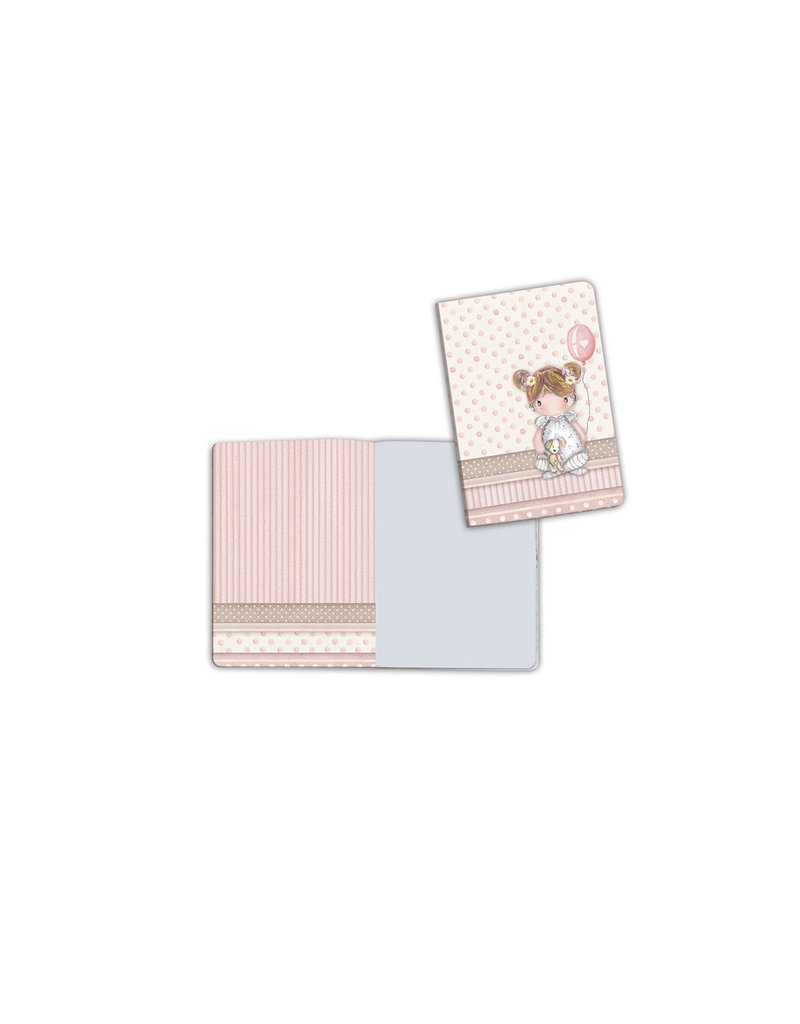 Stamperia A6 Notebook - Baby girl  baloon