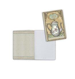 Stamperia A6 Notebook - Alice teapot