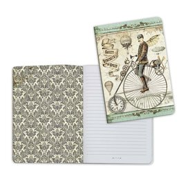 Stamperia A5 Notebook - Voyages Fantastiques Bicycle