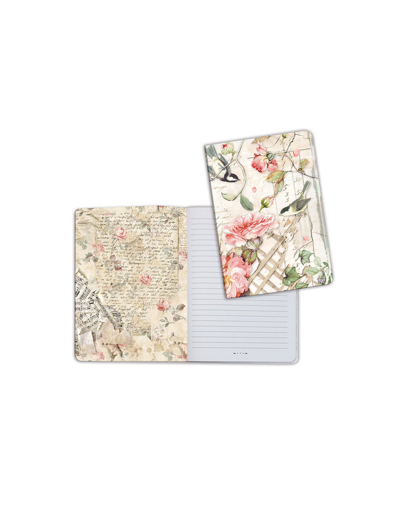 Stamperia A5 Notebook - Roses and little birds