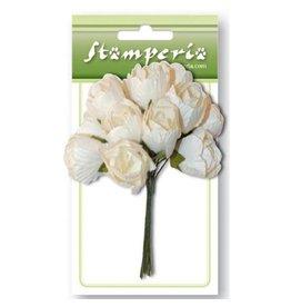 Stamperia 12 paper white bottoms Bouquet
