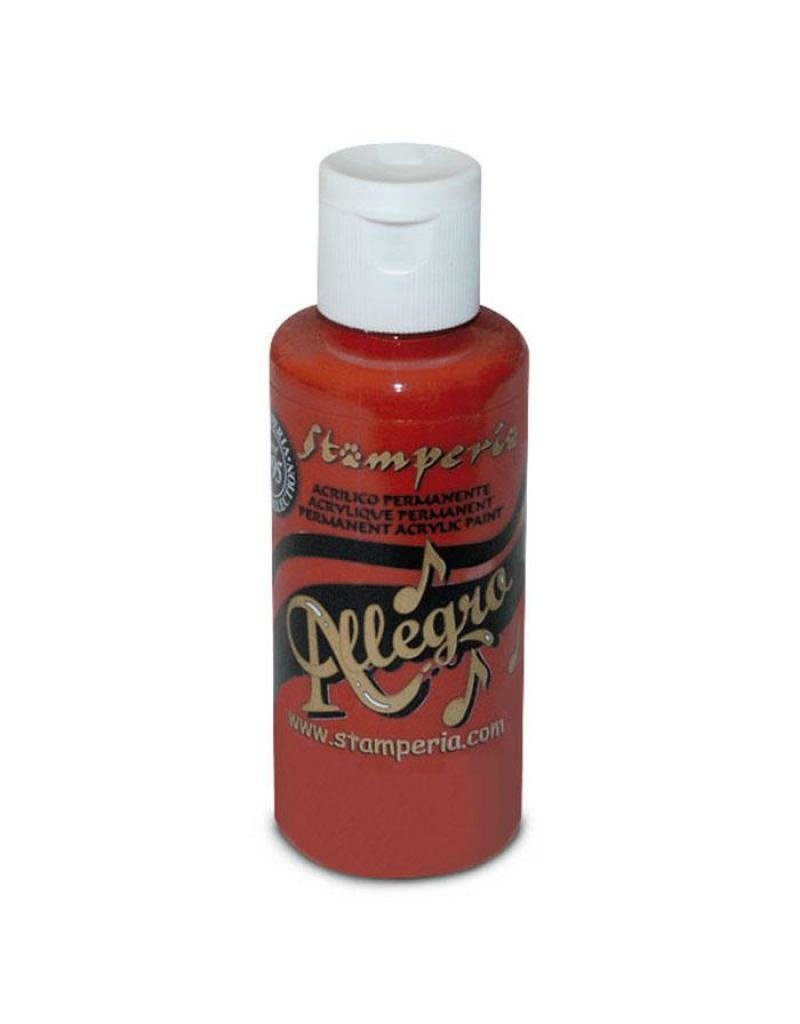 Stamperia 004 Allegro paint 59 ml. Coral red