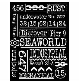 Stamperia Thick Stencil cm. 15X20 Sea World Writings