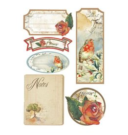 Stamperia Labels A5 - Flowers and poems