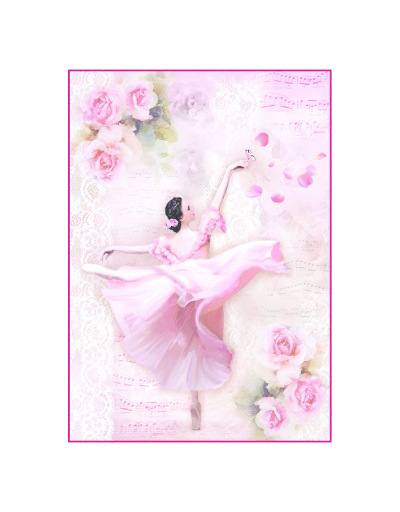 Stamperia A4 Rice Paper Packed Dancer with petals