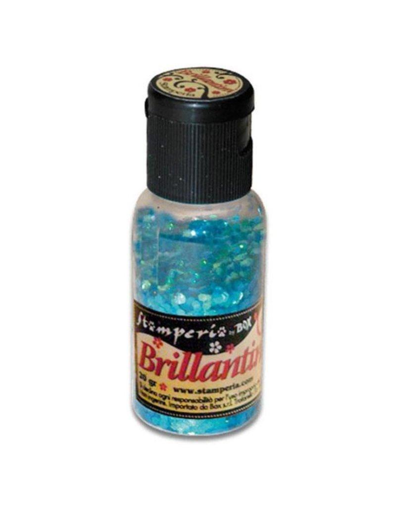 Stamperia 028 Glitter 20 gr. CG sea blue