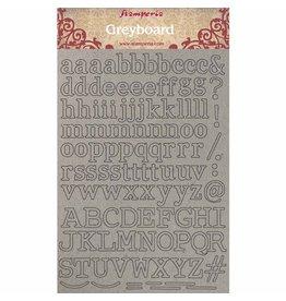 Stamperia A4 Greyboard /1 mm Alphabet