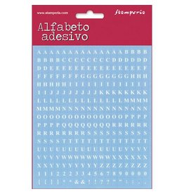 Stamperia Mini alphabet 306 pcs - light blue background