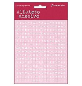Stamperia Mini alphabet 306 pcs - pink background