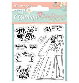 Stamperia Acrylic stamp cm. 9,5x10,5 Mr and Mrs