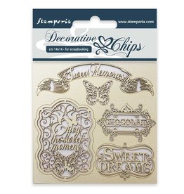 Stamperia Decorative chips cm. 14x14 Sweet memories