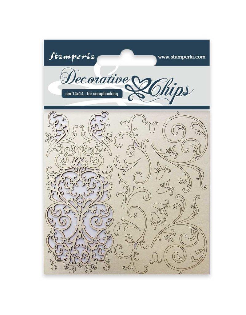 Stamperia Decorative chips cm. 14x14 Tapestry